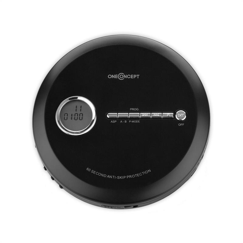 Lecteur MP3 & MP4 Oneconcept CDC 100MP3 Discman Go - Noir