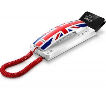 Téléphone fixe filaire - Philips - Design Scala M110W/FR Motif Angleterre