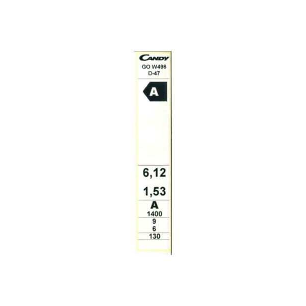 Lave-linge séchant frontal - CANDY - GrandO GOW 496 6/9kg
