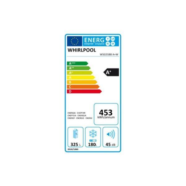 Réfrigérateur américain - WHIRLPOOL - WSG5588A+W - Blanc