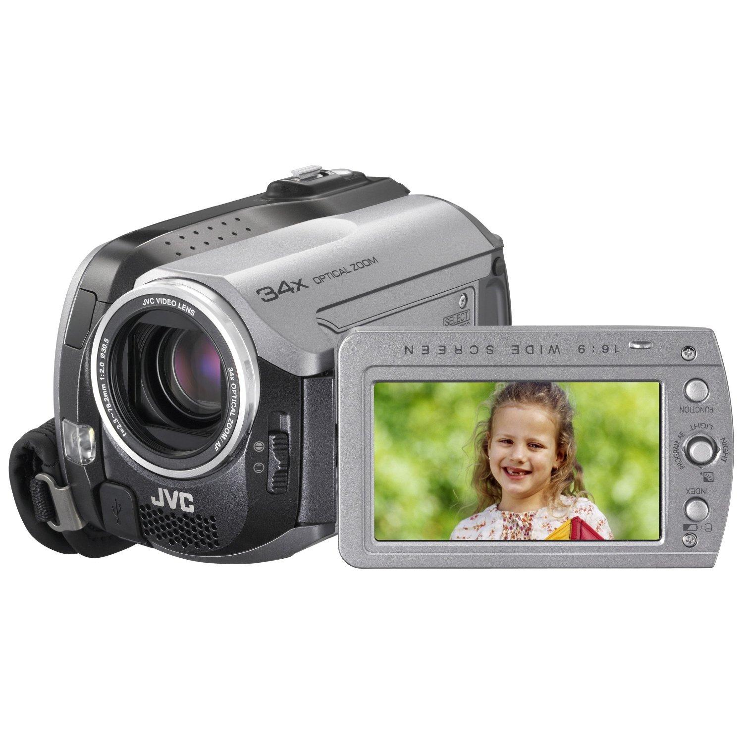 JVC GZ-MG130 EVERIO - Camescope - GZ-MG130 EVERIO - Disque dur 30 Go/SD Card