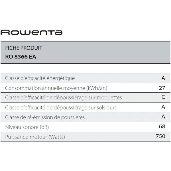 Aspirateur sans sac - ROWENTA - RO8366EA