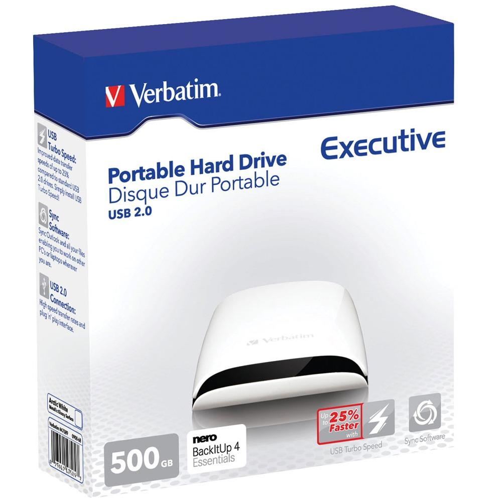 Verbatim - Disque dur externe - Executive 500 Go 2,5""