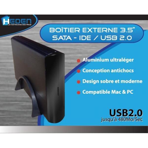 """Heden - Boîtier externe pour disque dur 3,5"""""""