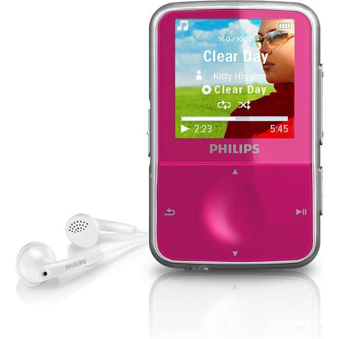 Baladeur vidéo MP3 FM GoGear Vibe 4 Go - Rose