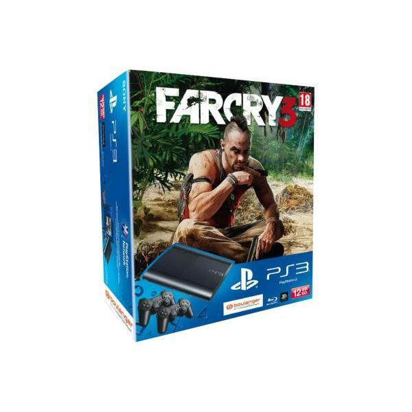 Console SONY PS3 12Go + Far Cry 3 + 1 Dualshock 3