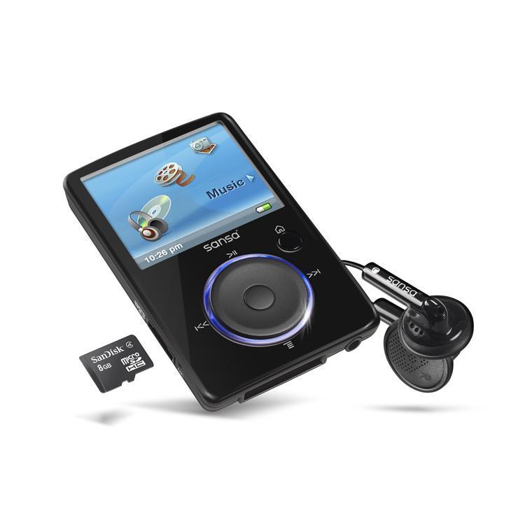 Sandisk Sansa Fuze Lecteur MP3/MP4/FM -  8 Go extensible micro SD