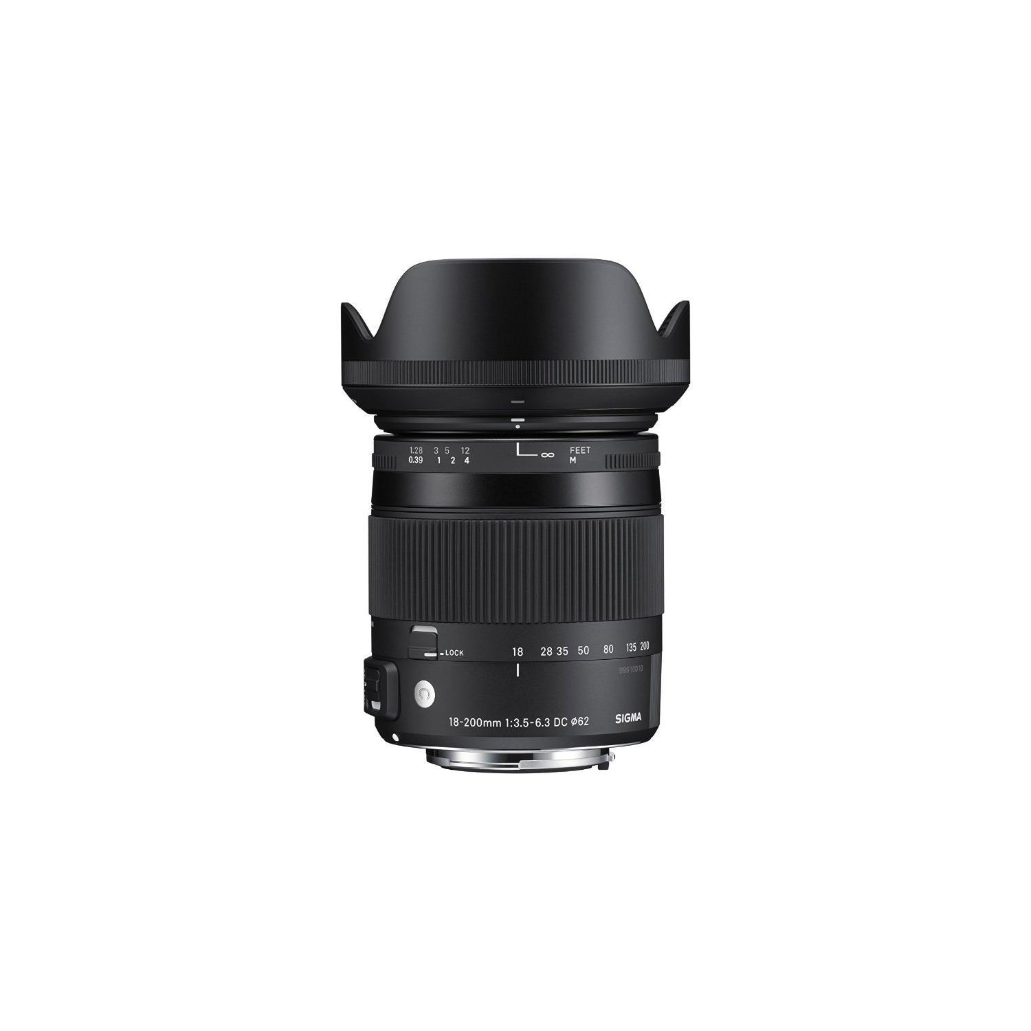 Sigma - Objectif Macro 18-200 mm F 3,5-6,3 DC OS HSM CONTEMPORARY - Monture Canon