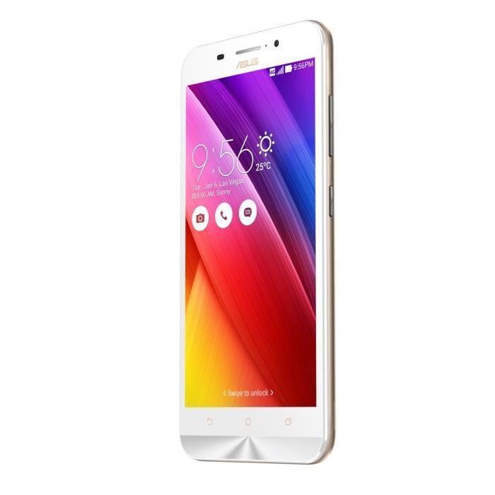 Asus Zenfone Max (ZC550KL) 16 Go - Blanc - Débloqué