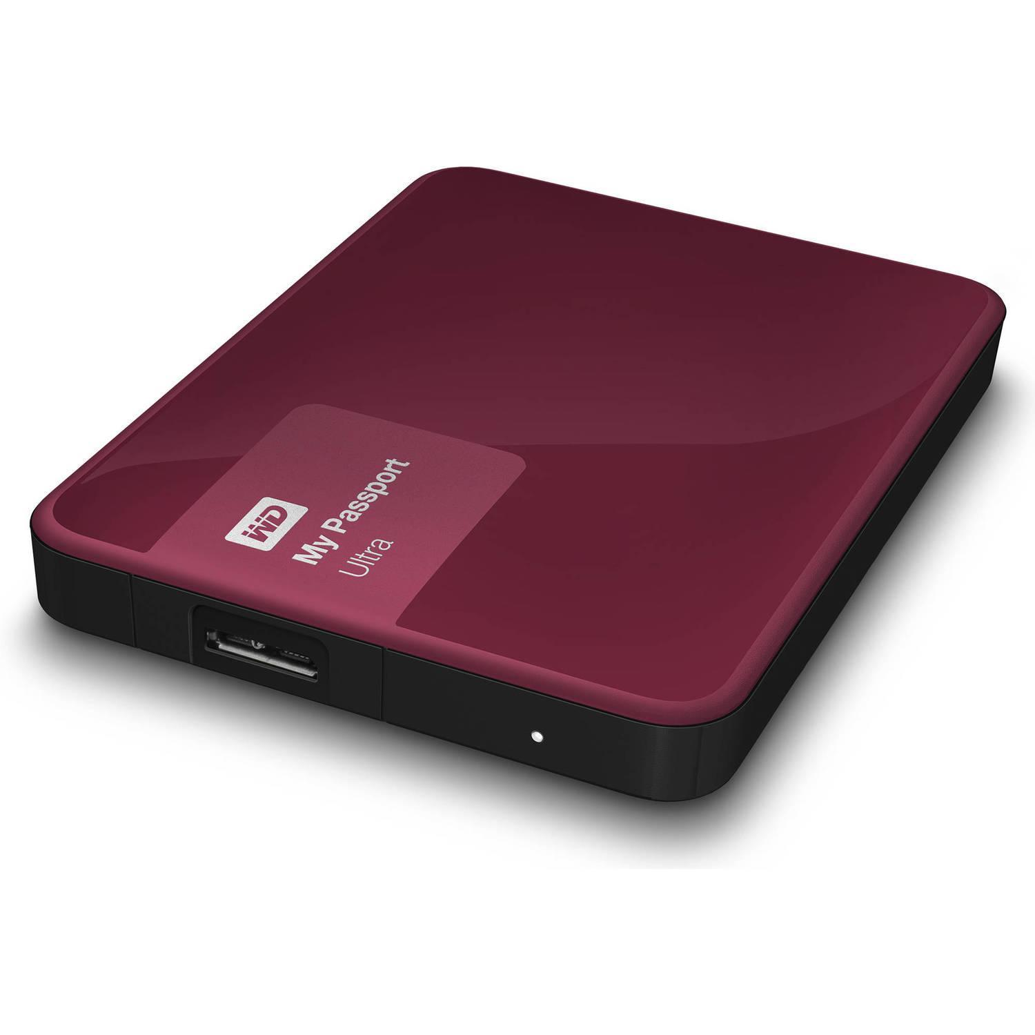 "Western Digital - Disque dur externe My Passport Ultra 2.5"" - 1 To USB 3.0 - Berry"
