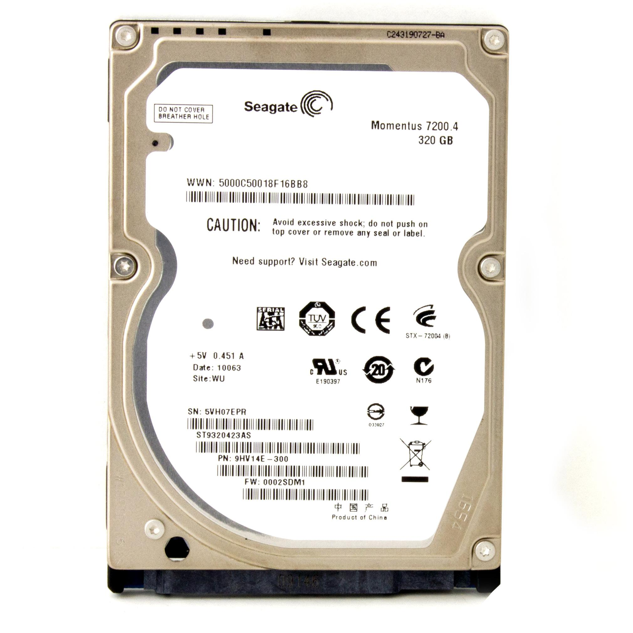 SEAGATE ST9320423AS Disque dur interne 2,5'' SATA 320Go