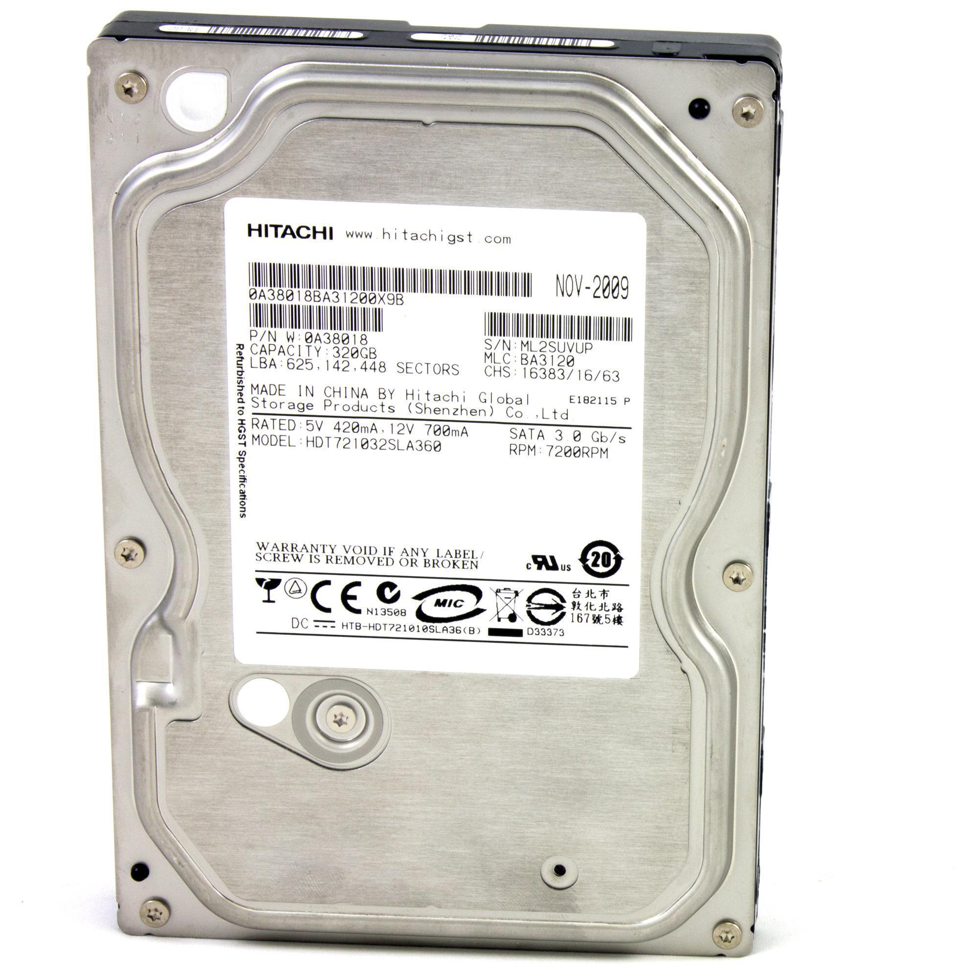 Hitachi Deskstar Disque dur 320 Go - 3,5'' SATA