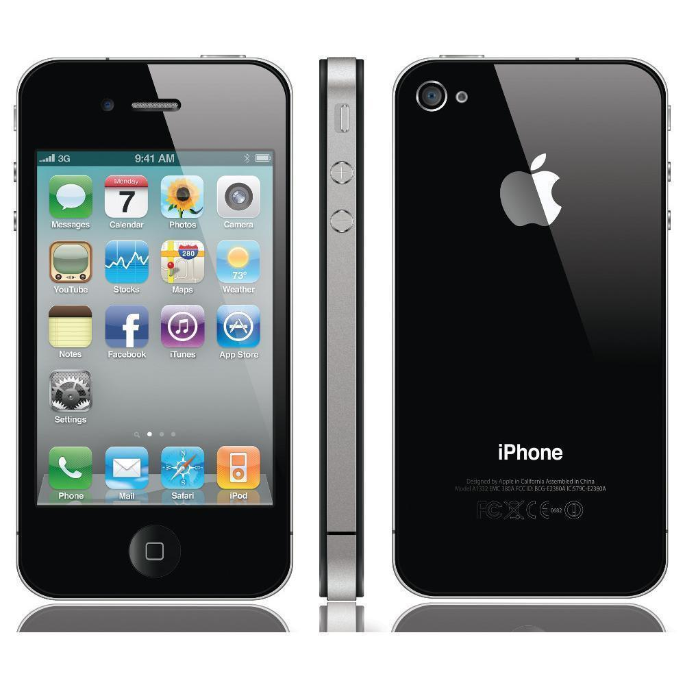 iPhone 4 32 Gb - Negro - Naranja