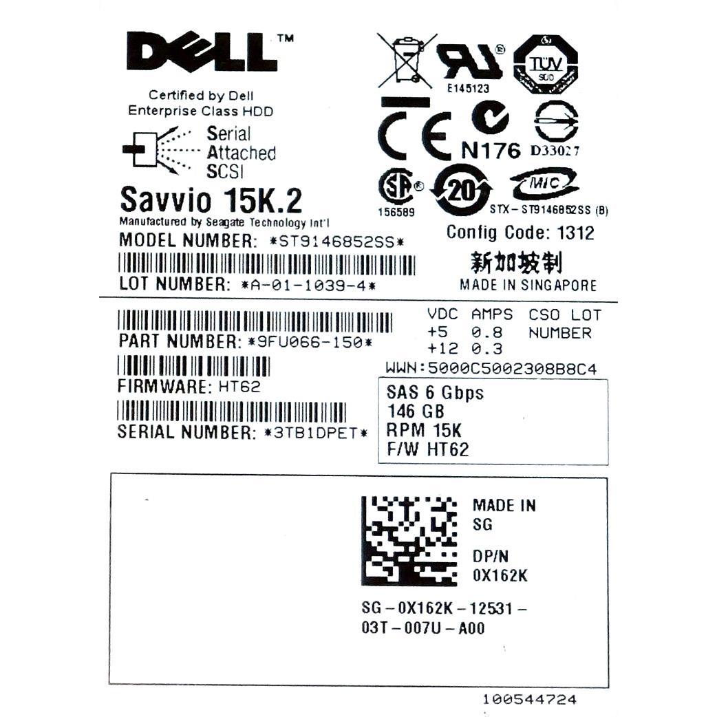 "Dell Savvio 15K.2 Disque dur 2,5"" SAS - 6Gbps - 148Go - 15K"
