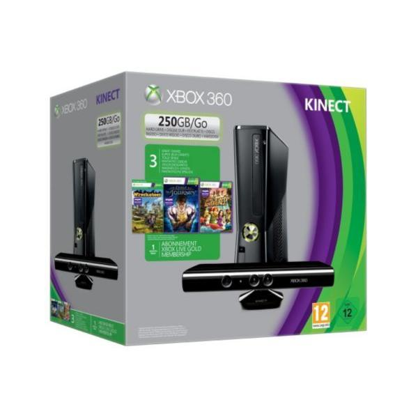 Xbox 360 250 Go + Kinect + 3 jeux compatibles Kinect