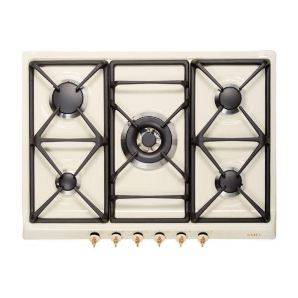 Table de cuisson - Gaz 5 foyers - SMEG SPR876PGH