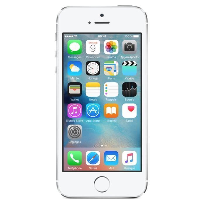iPhone 5S 32 Go - Argent - Débloqué