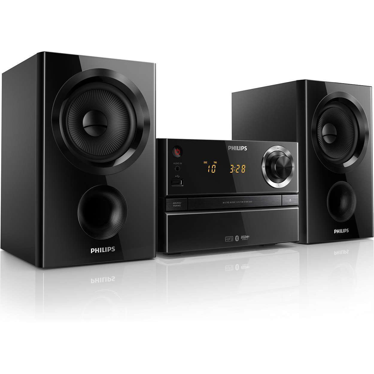 Micro-chaine CD + USB + Bluetooth Philips BTM1360/12 - 30 W