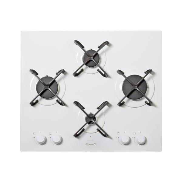 Table de cuisson - Gaz 4 foyers - BRANDT BPE6414W