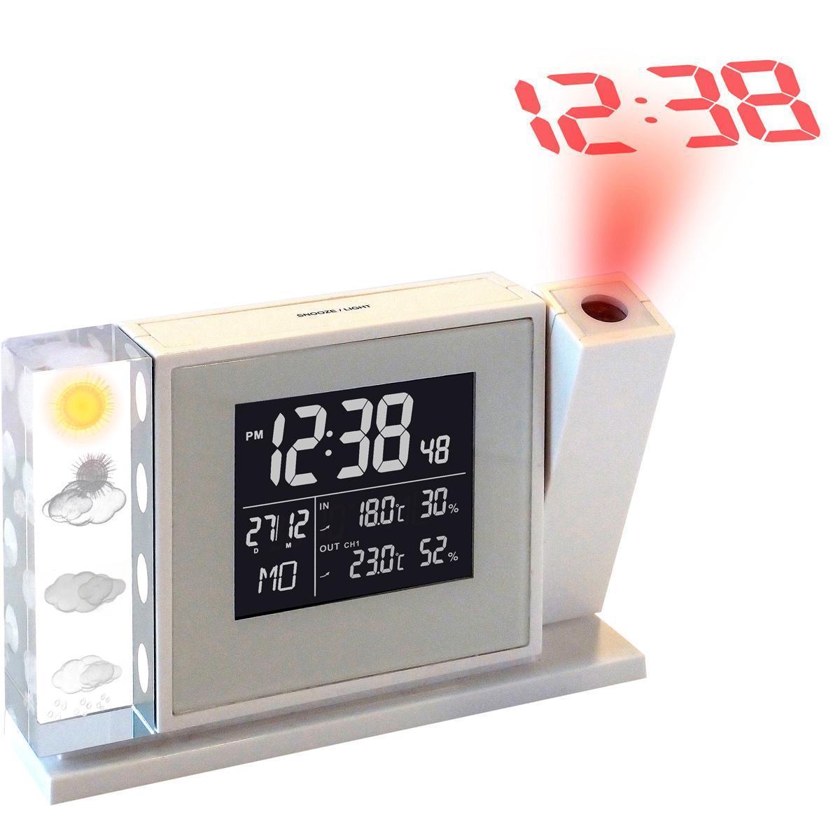Station météo avec projection d'heure WakeUp INOLT02