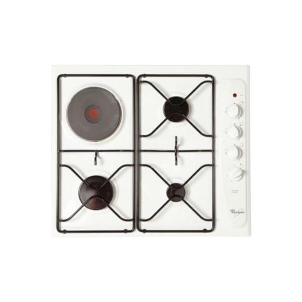 Table de cuisson mixte - Electrique / Gaz 4 foyers -  WHIRLPOOL AKM261WH