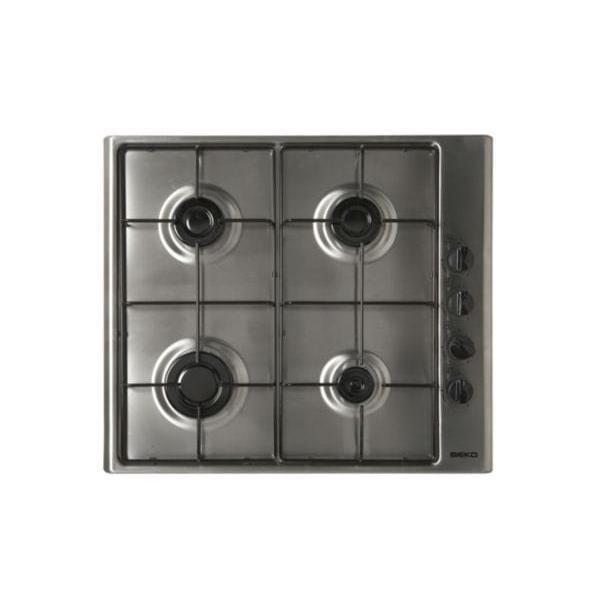Table de cuisson - Gaz 4 foyers - BEKO HIZG64120SX