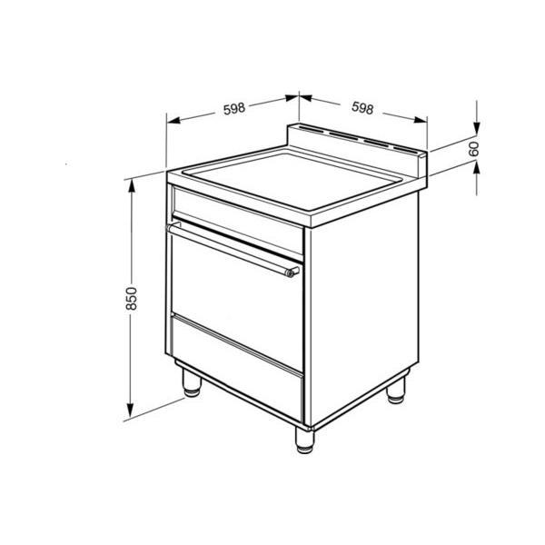 Cuisinière induction SMEG CLPI460N