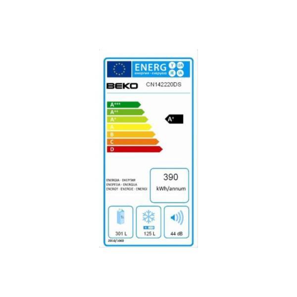Réfrigérateur congélateur en bas BEKO CN142220DS
