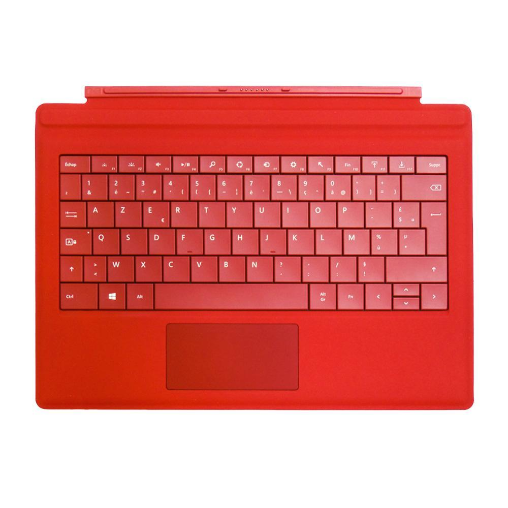 Clavier Microsoft Type Cover 3 (RD2-00061) pour Surface Pro - Rouge - QWERTY