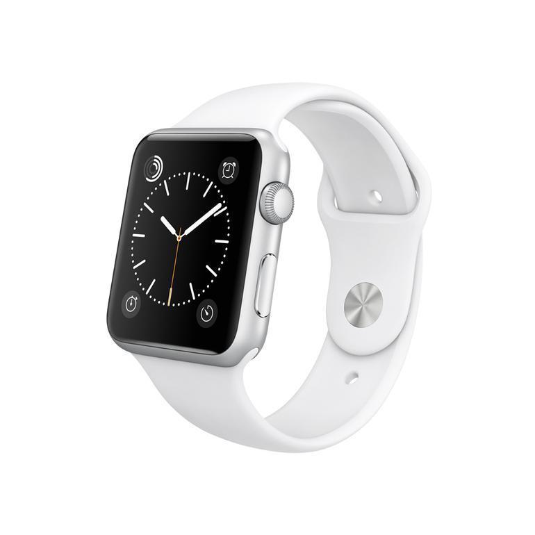 Apple Watch Sport 42mm A1554 - Argent - Bracelet Sport blanc