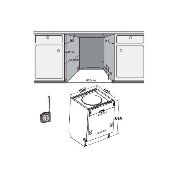 Lave-vaisselle encastrable 60cm LISTO LVI47 L1I - 12 couverts