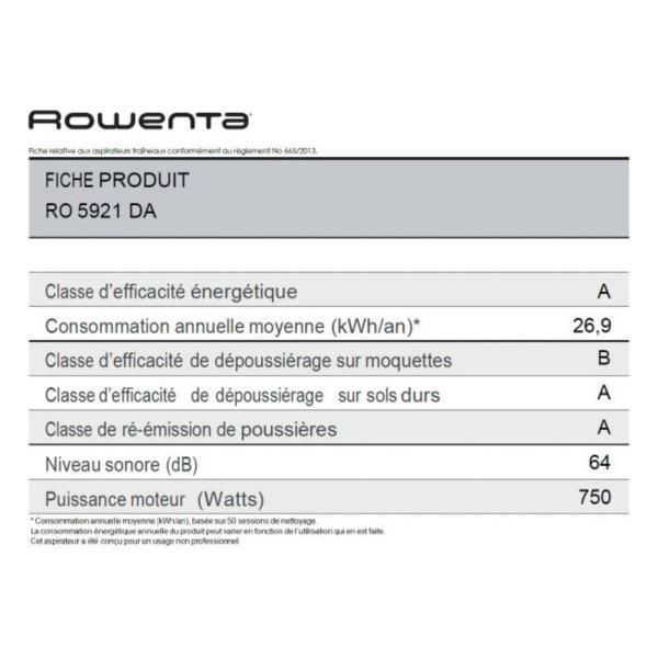 Aspirateur traineau avec sac ROWENTA RO5921DA Silence Force Extreme