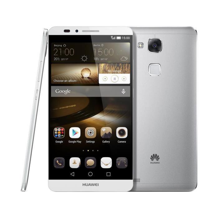 Huawei Ascend Mate 7 16 Go - Argent - Débloqué
