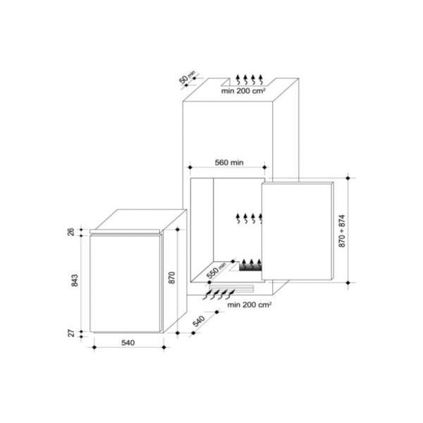 Réfrigérateur Rosières RBLP170