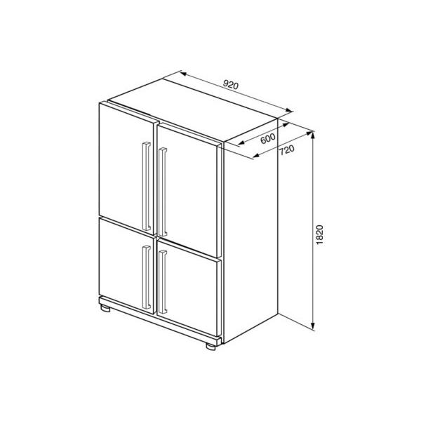 Réfrigérateur SMEG FQ60XP
