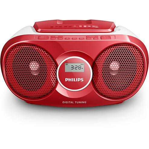 Poste radio CD Rouge Philips AZ25R/12