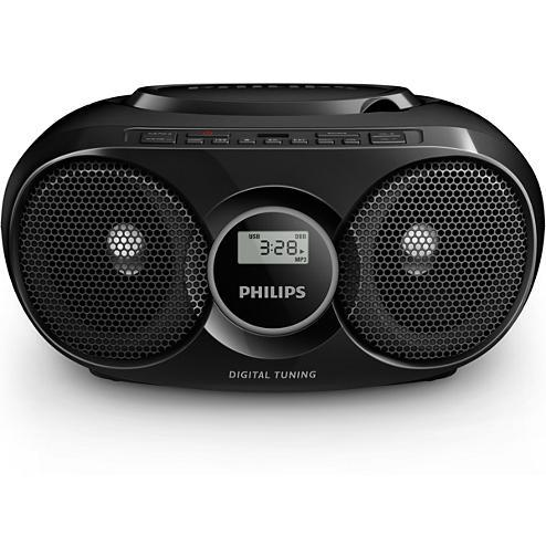 Poste radio CD Noir Philips AZ318B/12