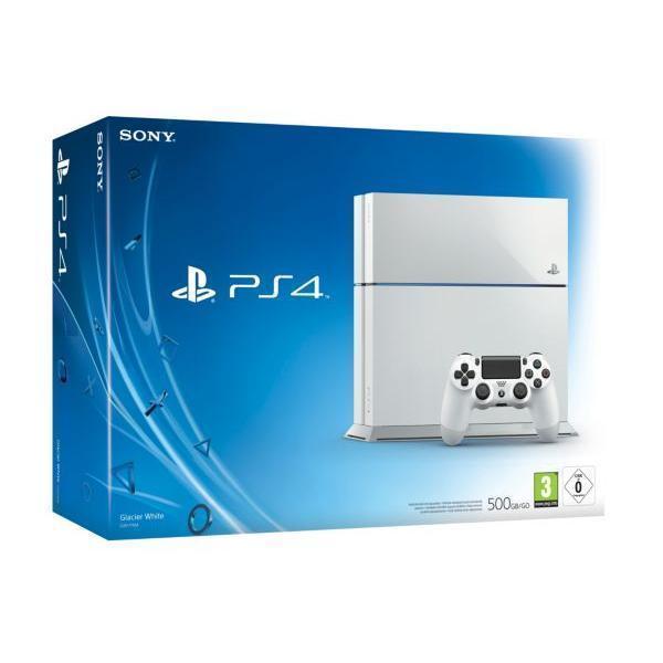 Sony PS4 500 Go - Blanc