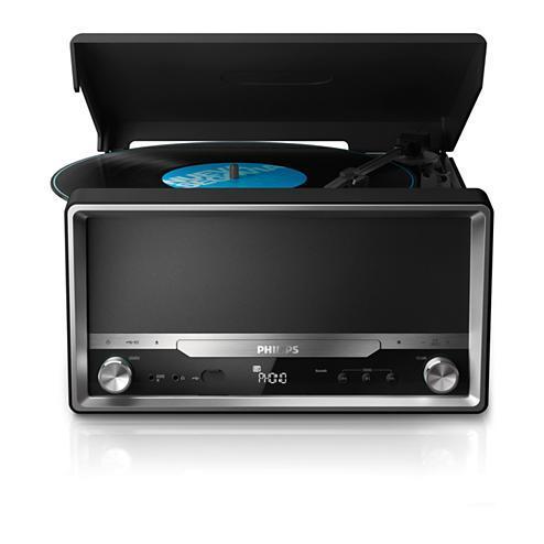Micro-chaîne Vinyle + USD + Bluetooth + CD Philips OTT2000B/12