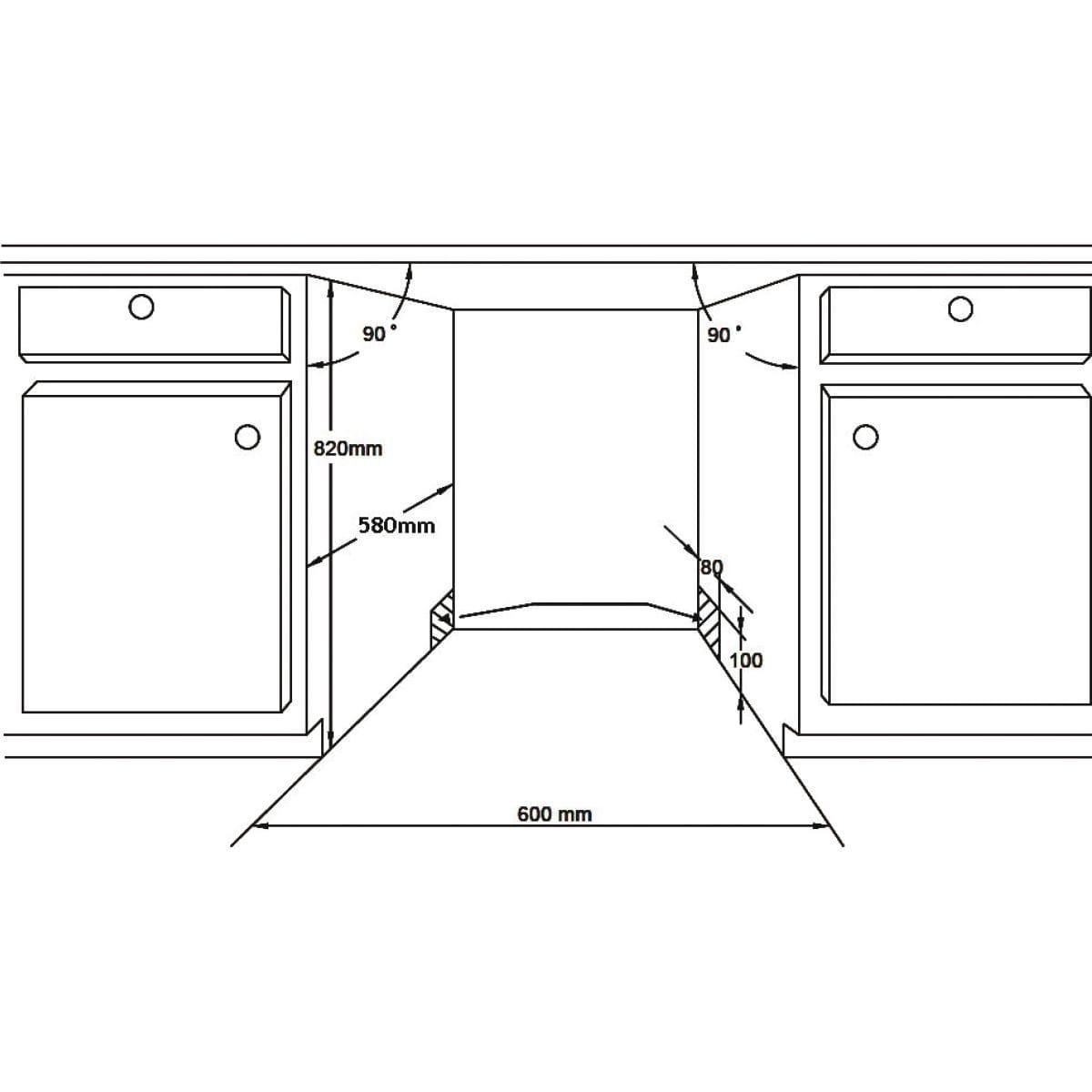 Lave-vaisselle encastrable 60 cm LISTO LVI 49L2f - 12 couverts