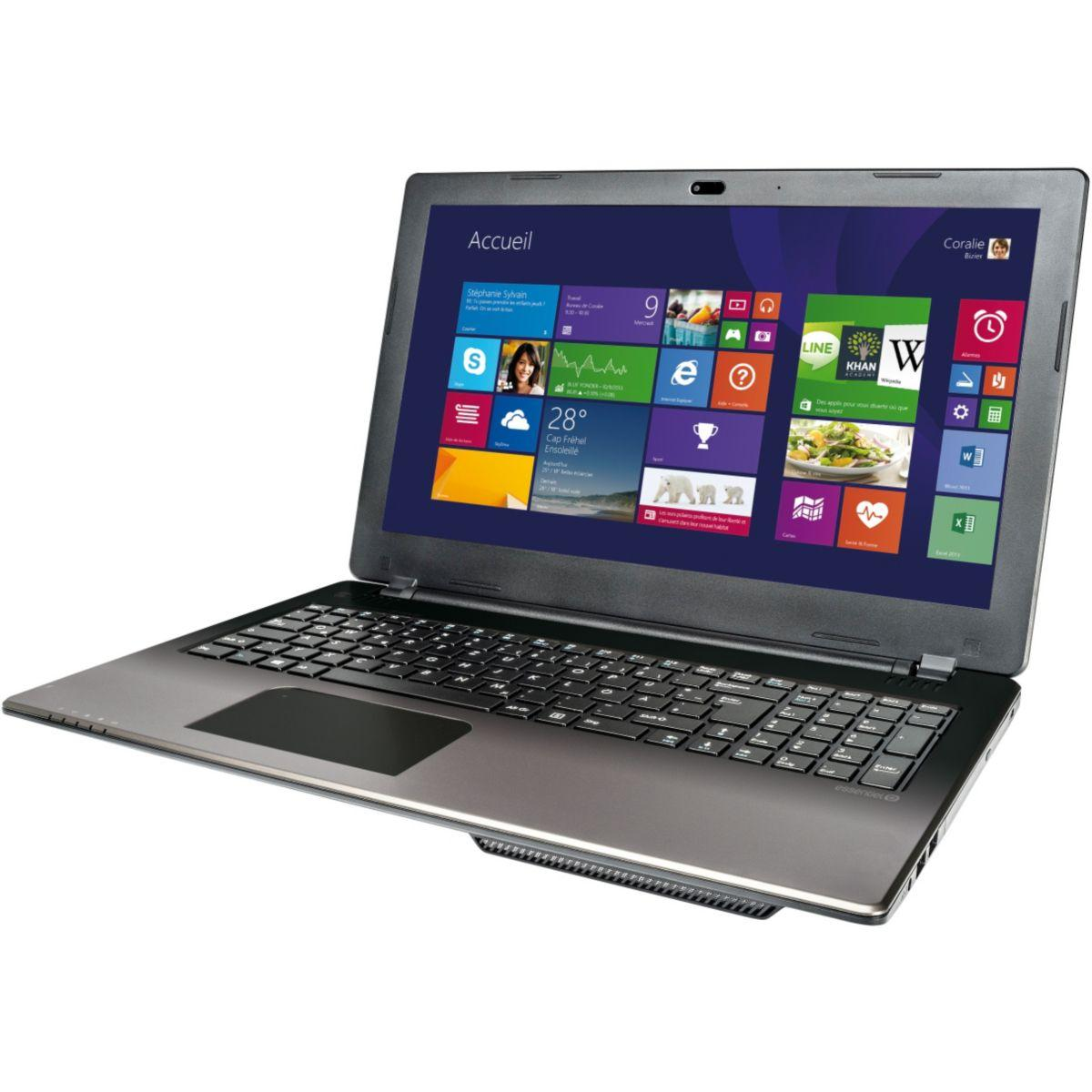 "Essentiel B Smart'MOUV 1506-6 15,6"" Celeron N2930 1,8 GHz  - SSD 8 Go + HDD 1.024 To - RAM 4 Go"