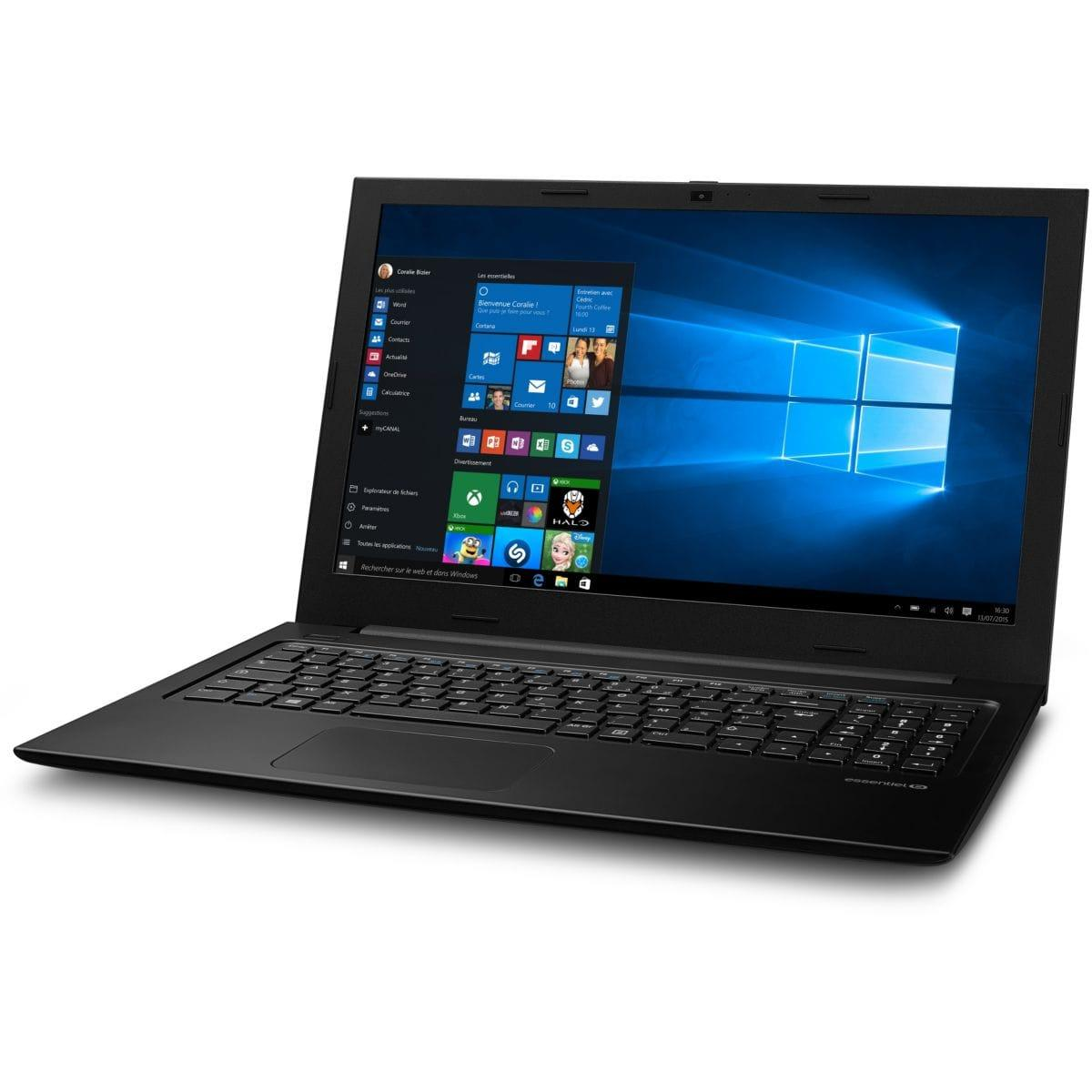 """Essentiel B Smart'Mouv 1513-1 15,6"""" Pentium N3710 1,6 GHz  - SSD 64 Go + HDD 512 Go - RAM 4 Go"""