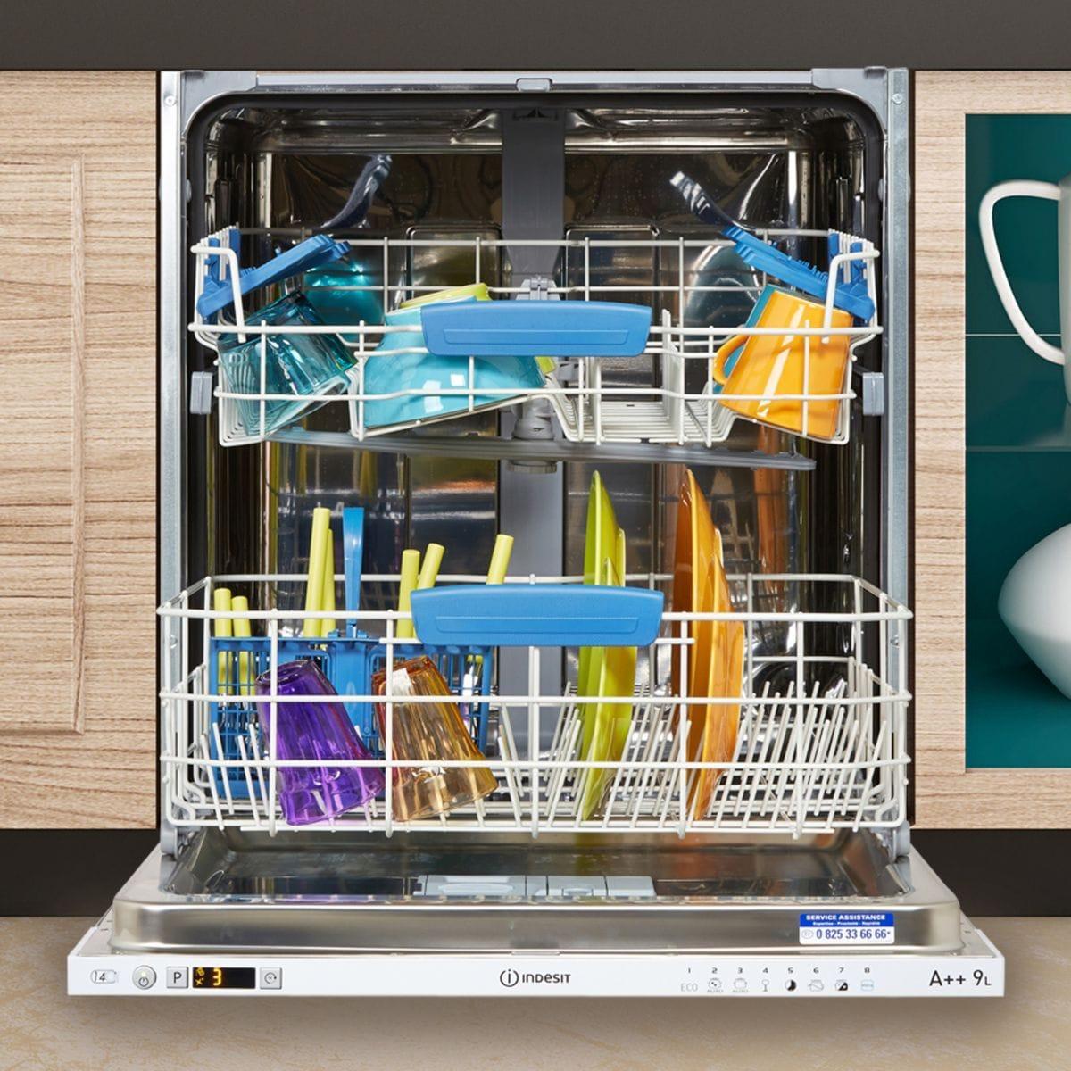 Lave-vaisselle intégrable 60 cm INDESIT DIFP66B+9 EU - 14 couverts