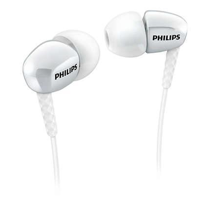 Écouteurs Philips intra-auriculaires SHE3900WT/00 - Blanc