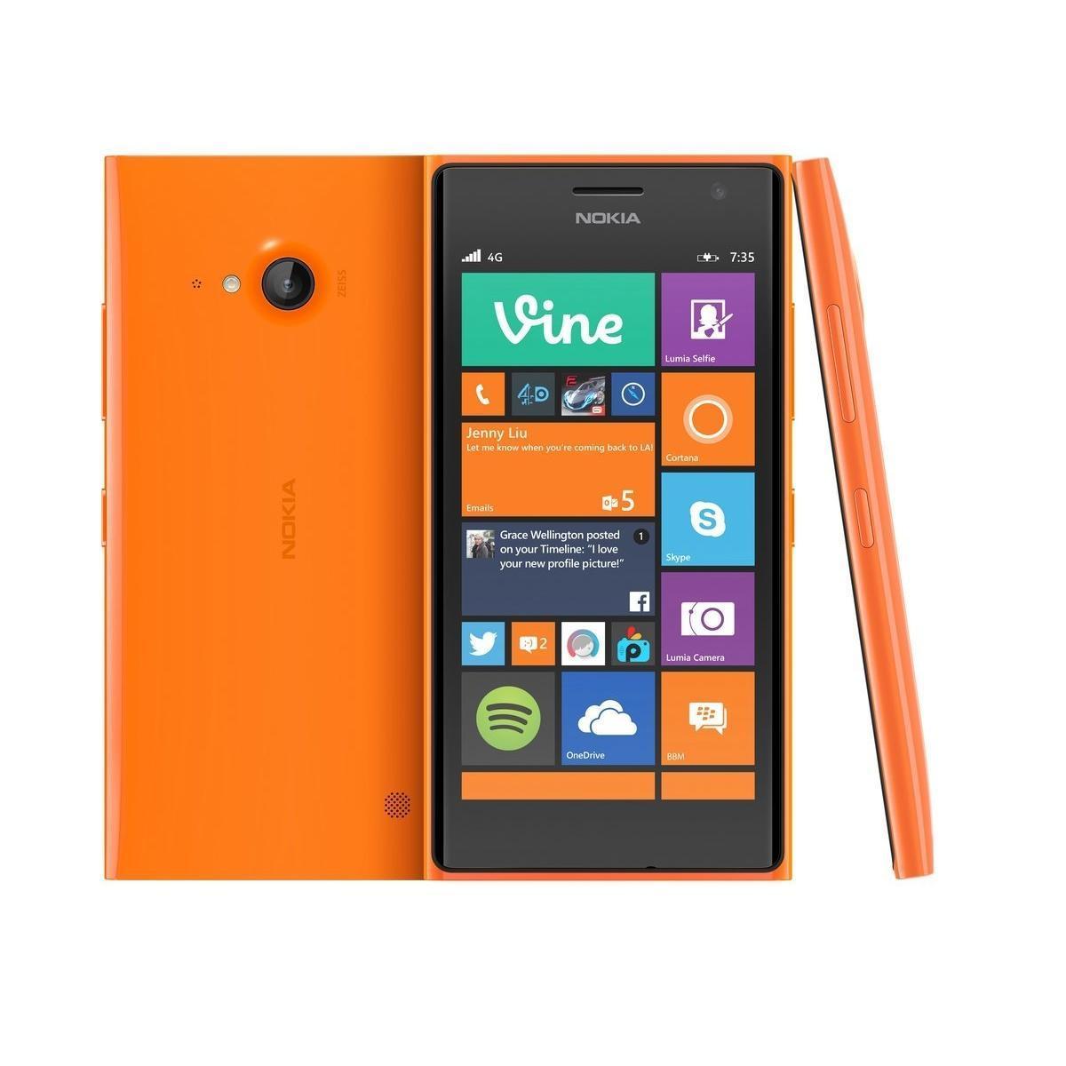 Nokia Lumia 730 Dual-Sim 16 Go Orange Débloqué