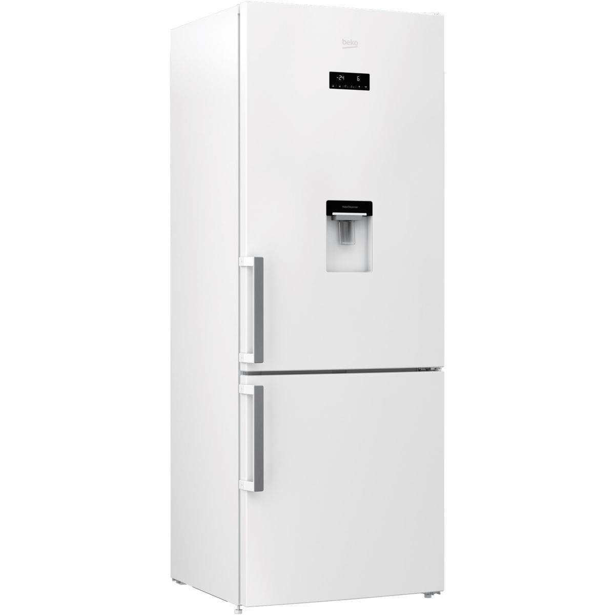 réfrigérateur combiné beko rcne520e21dw reconditionné   back market