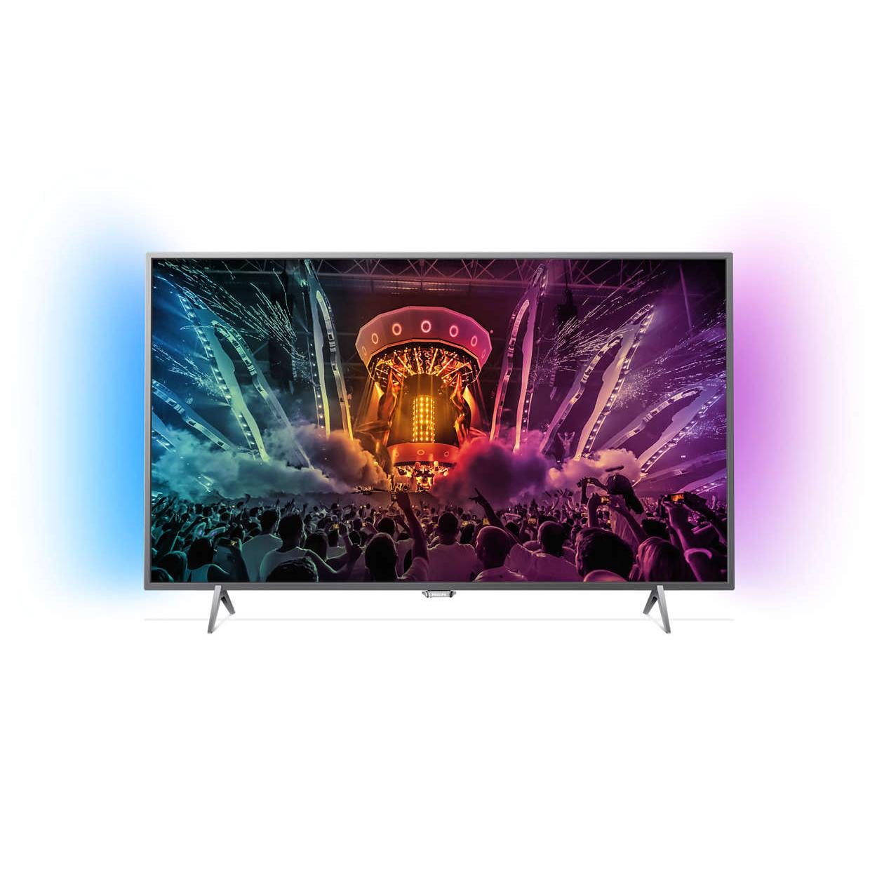 Smart TV LED 4K Ultra HD 108 cm Philips 43PUS6401/12