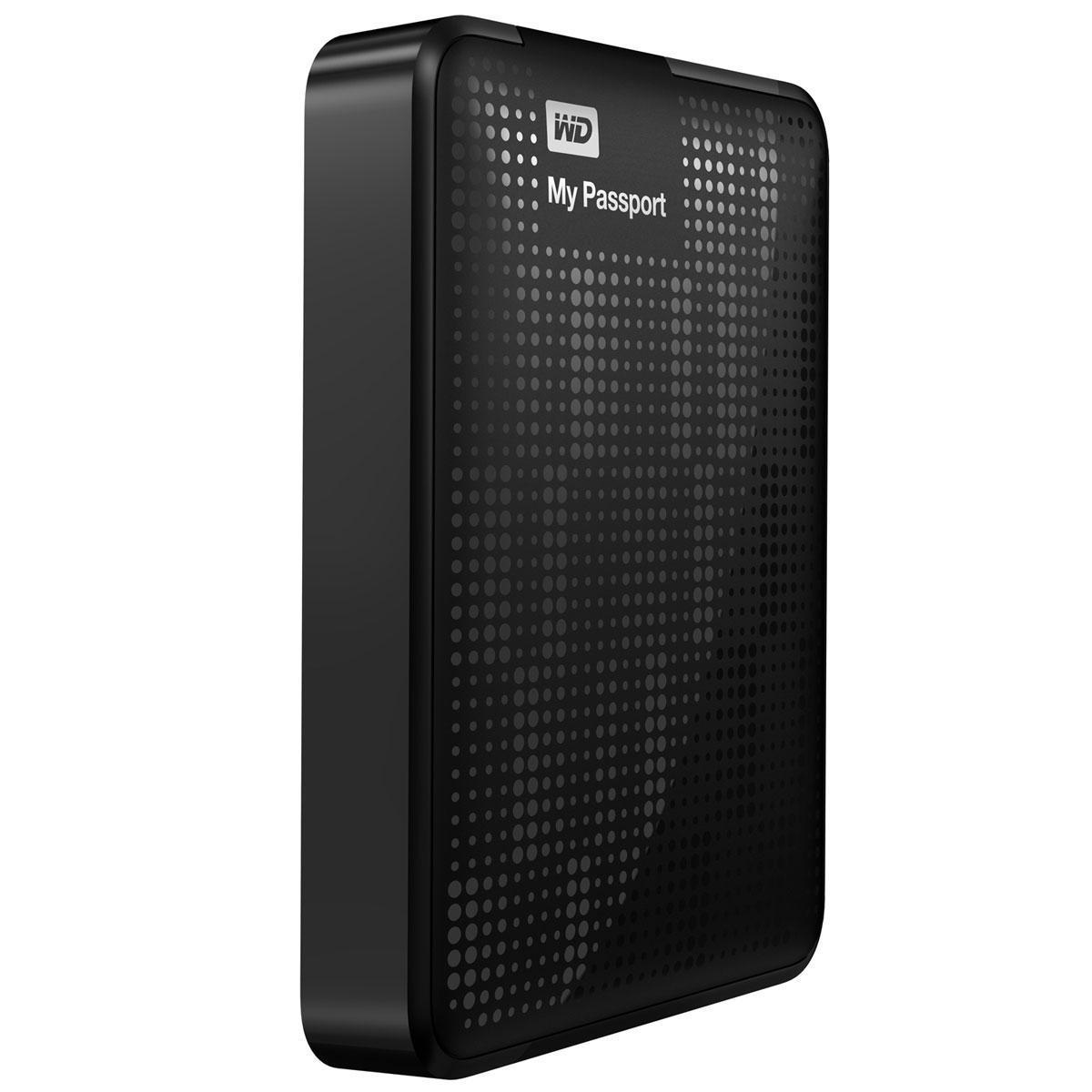Disco duro externo 500 GB - Western Digital My Passport AV-TV - Negro