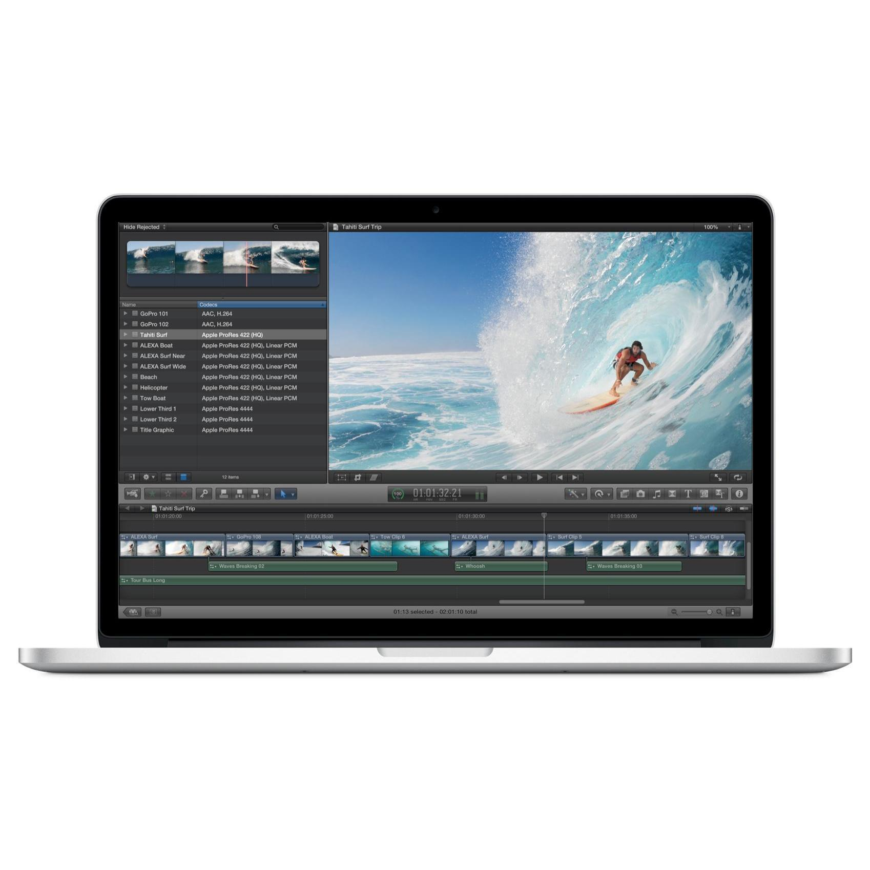"MacBook Pro 15"" Core i7 2.5 GHz  - 256 Go HDD + SSD - RAM 16 Go"