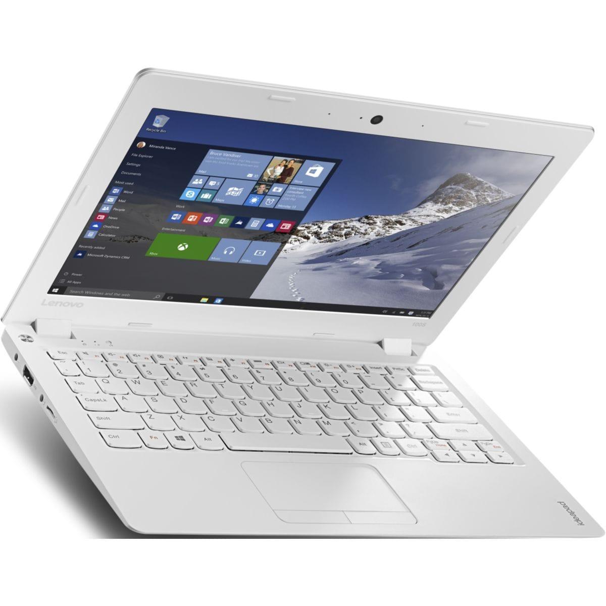 """Lenovo IdeaPad 100S-11IBY 11,6"""" Atom 1,33 GHz  - SSD 32 Go RAM 2 Go"""
